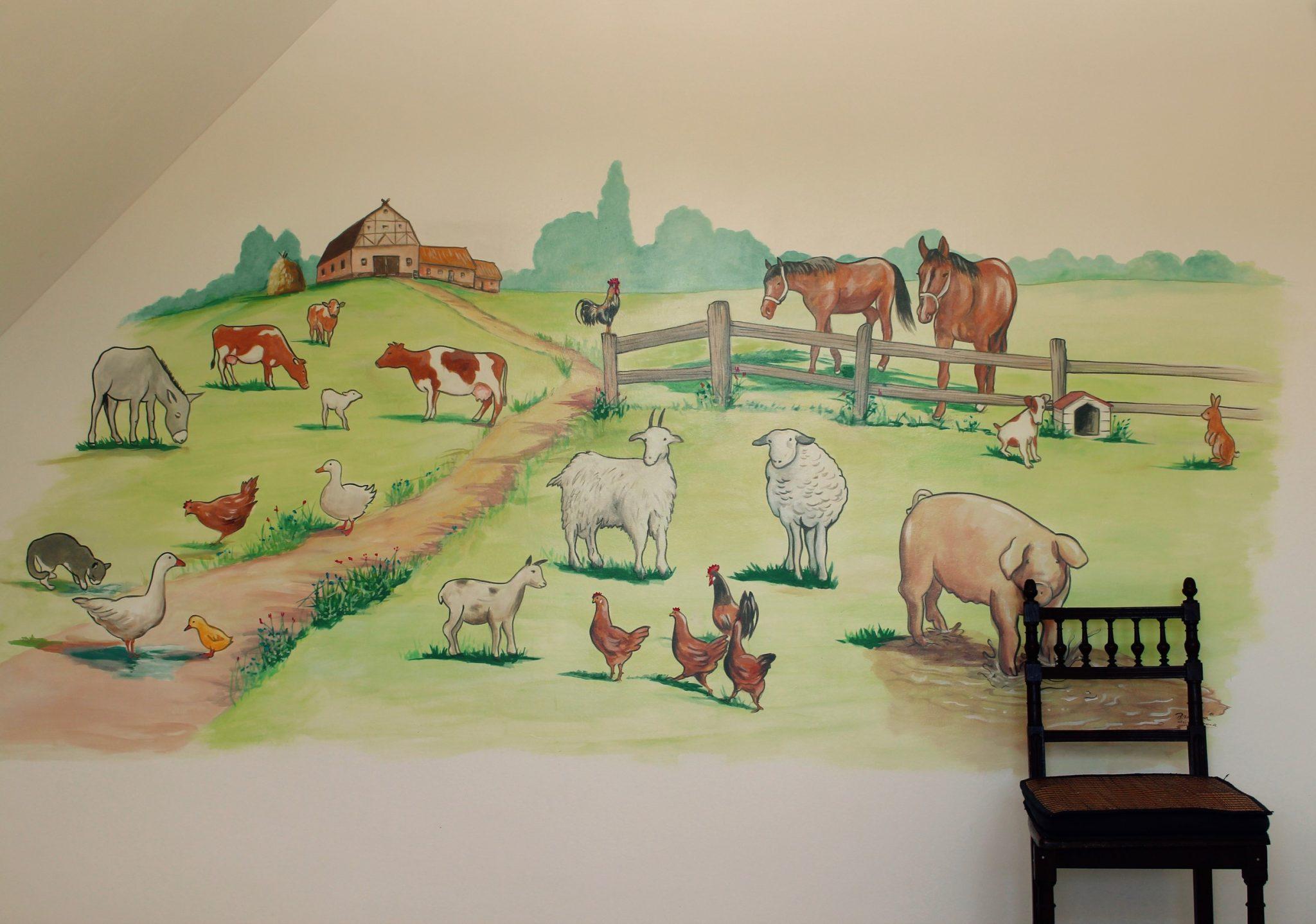 Kinderzimmer Bauernhof by Atelier-Witzmann