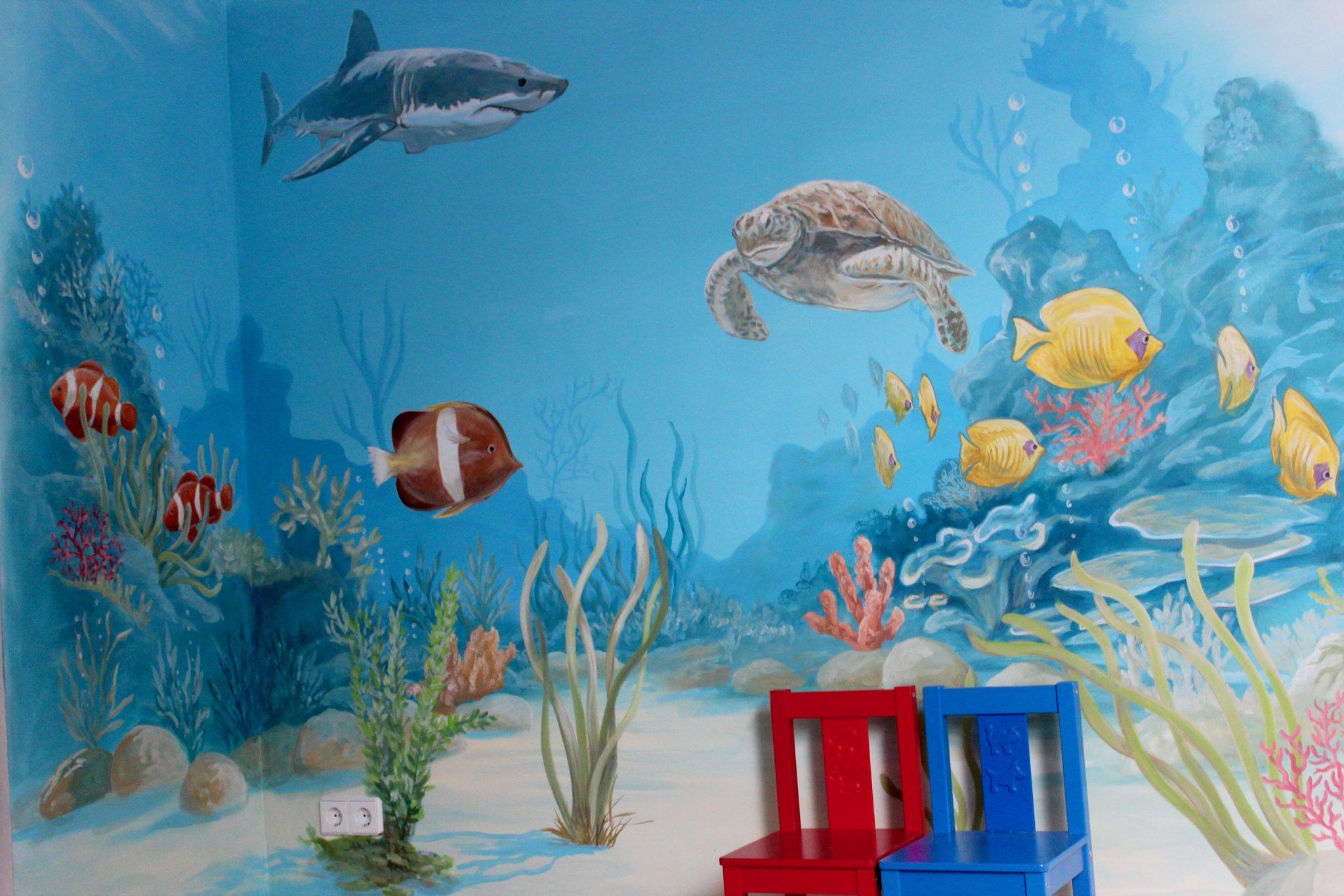 Kinderzimmer Unterwasserwelt Fische by Atelier-Witzmann