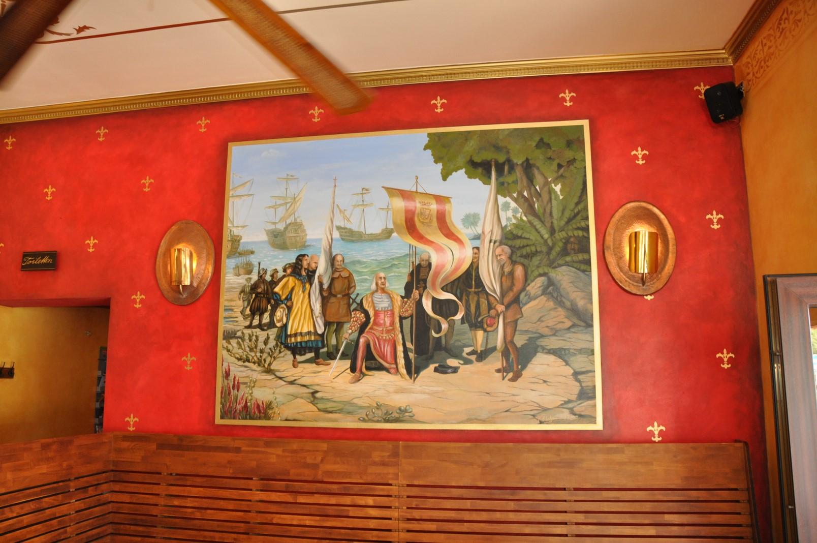 Wandbild in einem mexikanischen Restaurant in Berlin.
