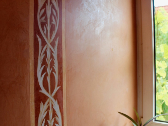 Marmoreffekt an den Wänden