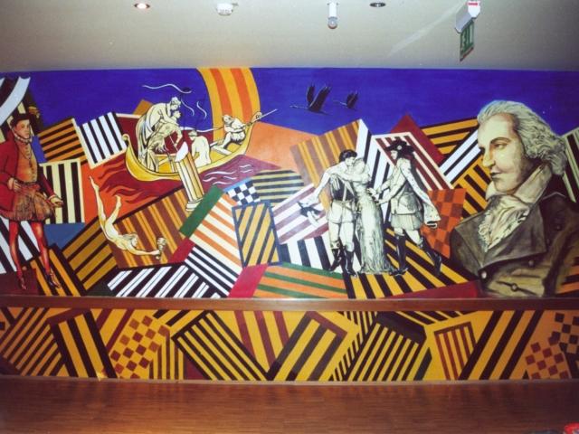 Collage, Friedrich Schiller, Wandbild