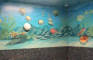 Wandmalerei in Acryl