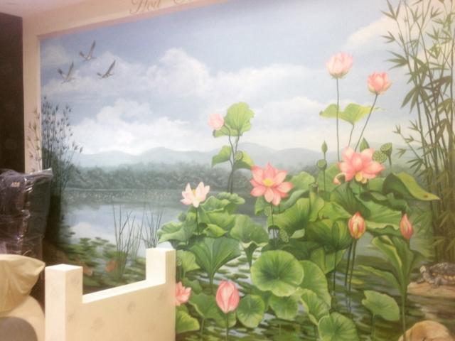 Wandgestaltung in einem Schönheitssalon