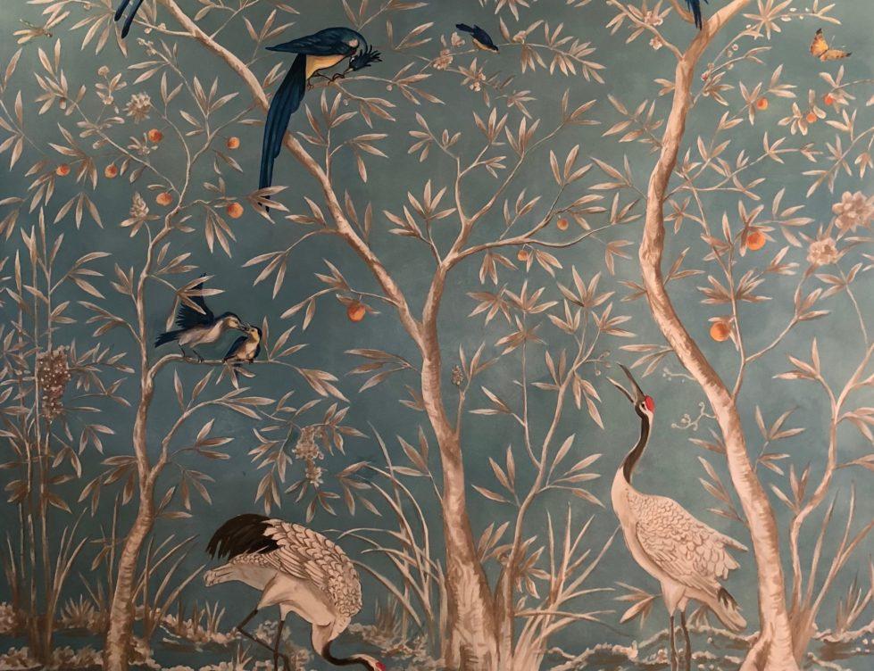Vögel, Bäume, Türkis